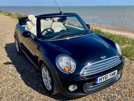 £6,982 Mini 1.6 Cooper 2dr Convertible, 2011, Black, FSH, Cheap Tax, HFS, Leather