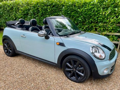£7,982 Mini 1.6 Cooper 2dr Convertible, 2012, Ice Blue, FSH, Cheap Tax, Leather