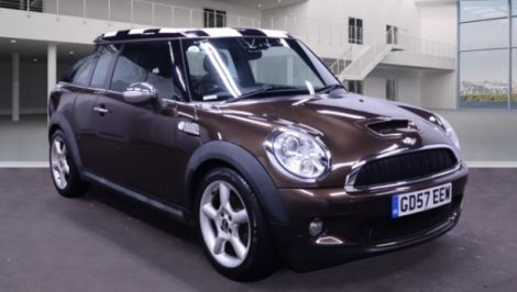 £7,982 Mini 1.6 Cooper S 5dr Auto Brown, Full Leather, 2008, FSH, 1 Owner