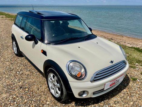 £5,482 Mini 1.6 Cooper Clubman Manual, FSH, White, Petrol, 2008 Leather Sunroof